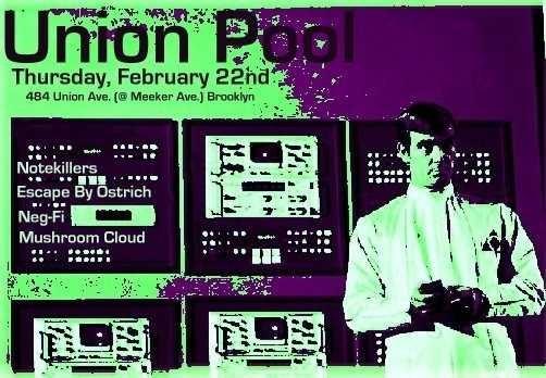 Neg-Fi Union Pool Flyer
