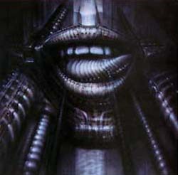 H R Giger Mouth