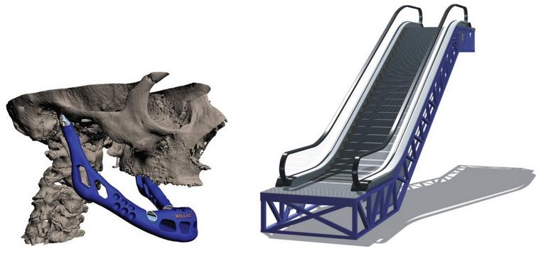 jaw and escalator