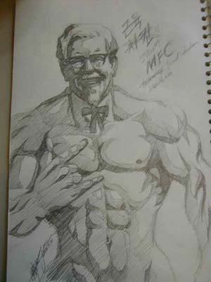 Colonel Sanders on Steroids - Artist Unknown