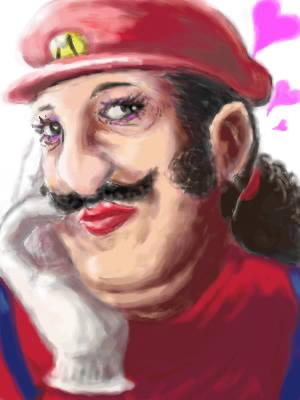 Mario Oil Painting
