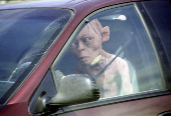 Smeagol Behind Wheel - Artist Unknown