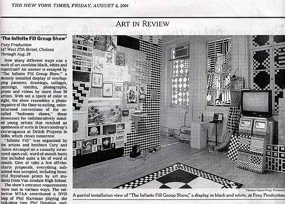 Infinite Fill New York Times review