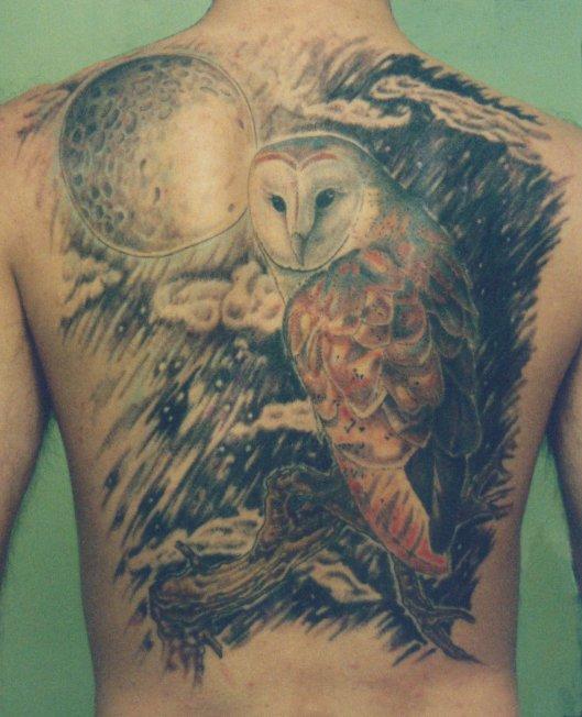 Deane tattoo. Deane's Barn Owl Tattoo. [link] [add a comment]